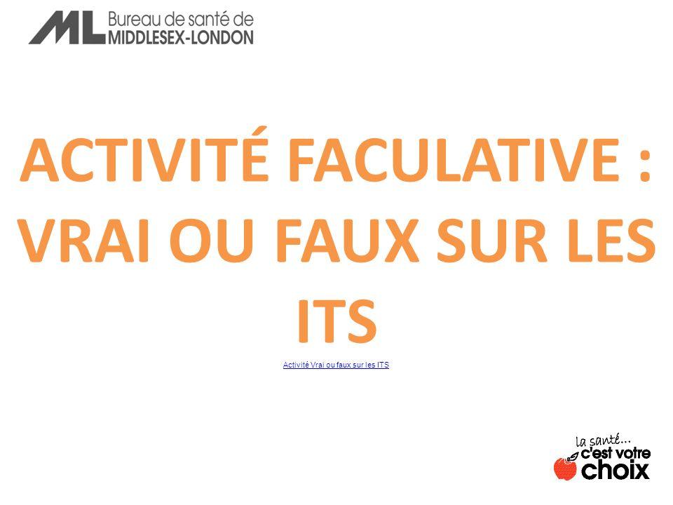 ACTIVITÉ FACULATIVE : VRAI OU FAUX SUR LES ITS Activité Vrai ou faux sur les ITS