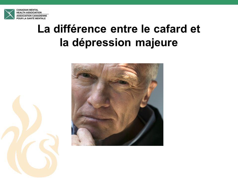 La dépression QUELQUES FAITS Près de 20% des personnes âgées vivent une dépression (Seeking Solutions 2003) Les personnes de plus de 60 ans sont cinq fois plus à risque de se suicider que la population plus jeune