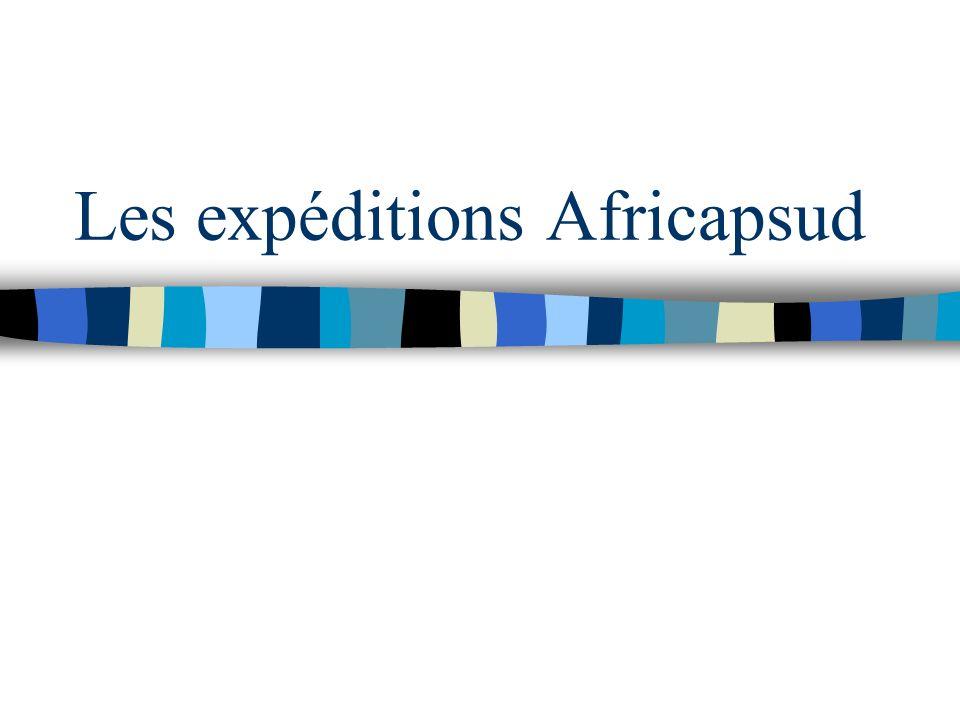 Les expéditions Africapsud