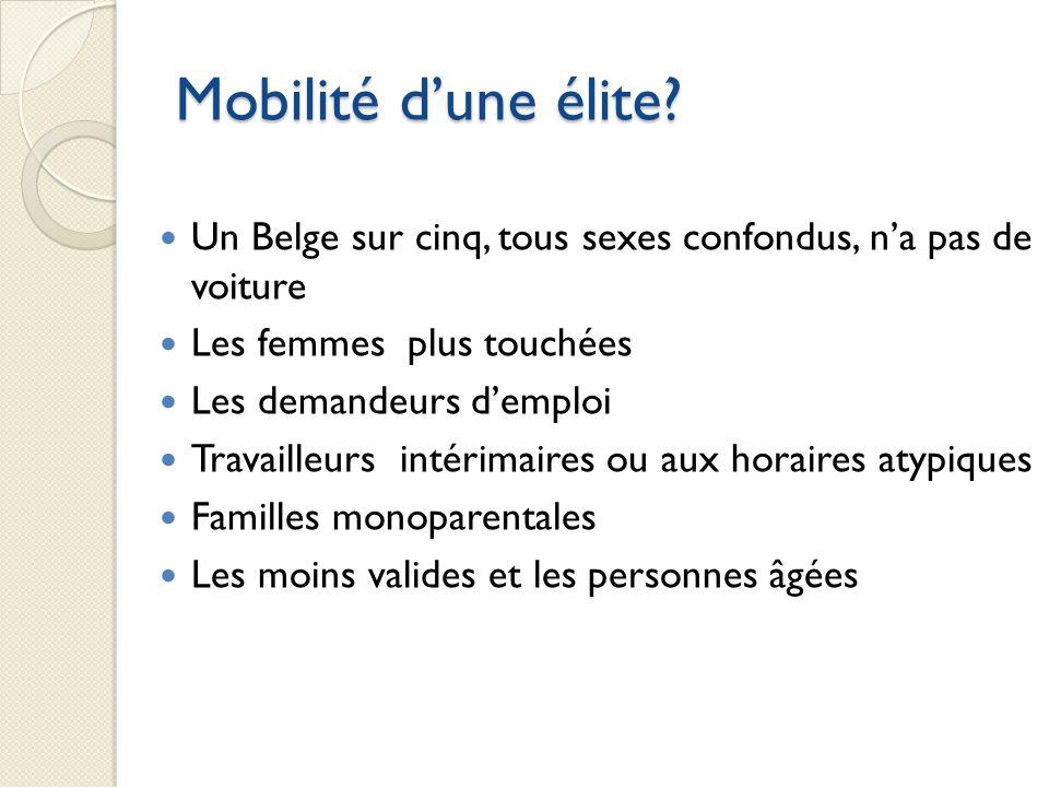 Mobilité dune élite.