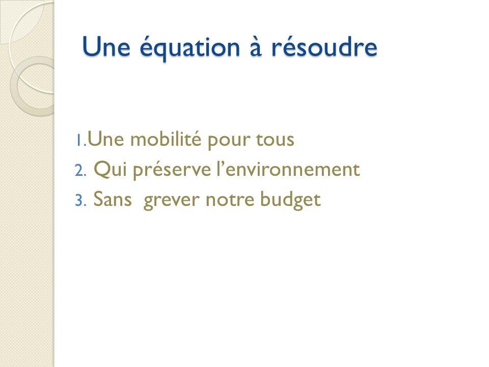 Une équation à résoudre 1. Une mobilité pour tous 2.