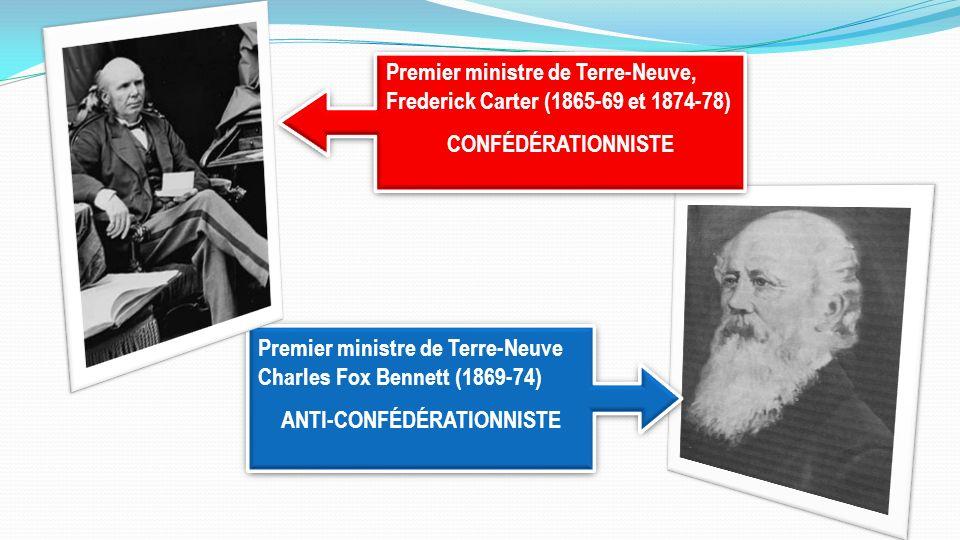 Premier ministre de Terre-Neuve, Frederick Carter (1865-69 et 1874-78) CONFÉDÉRATIONNISTE Premier ministre de Terre-Neuve, Frederick Carter (1865-69 e