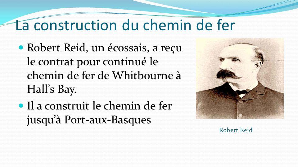 La construction du chemin de fer Robert Reid, un écossais, a reçu le contrat pour continué le chemin de fer de Whitbourne à Halls Bay. Il a construit