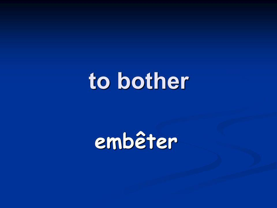 to bother embêter