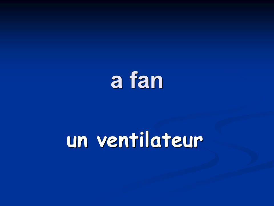 a fan un ventilateur
