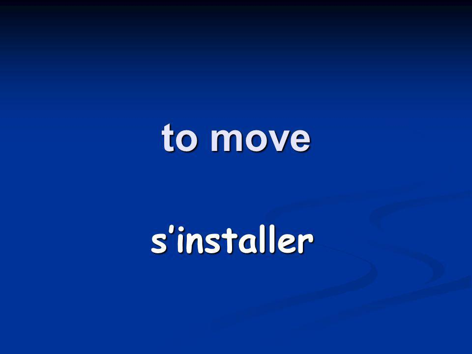 to move sinstaller