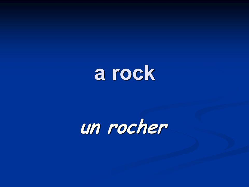 a rock un rocher