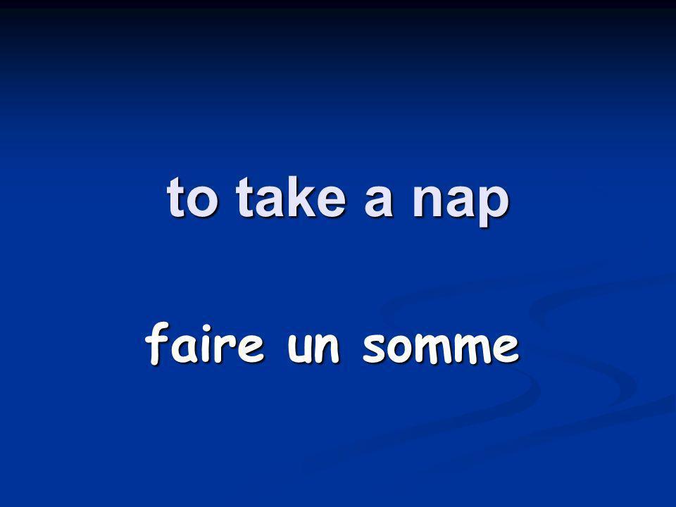to take a trip faire un voyage