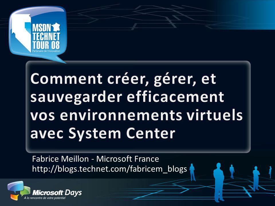 Objectif de cette présentation Quels sont les bénéfices apportés par System Center pour gérer vos infrastructures de virtualisation Comment les solutions System Center améliorent et rationalisent ladministration de vos environnements virtuels Quelles sont les nouveautés apportées par System Center Virtual Machine Manager 2008