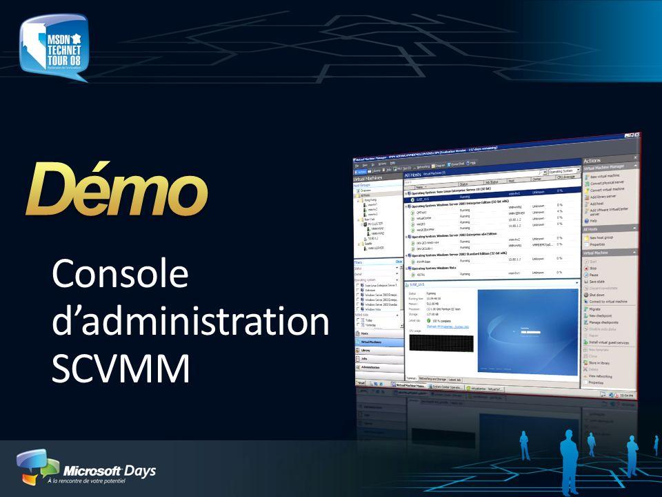 Console dadministration SCVMM