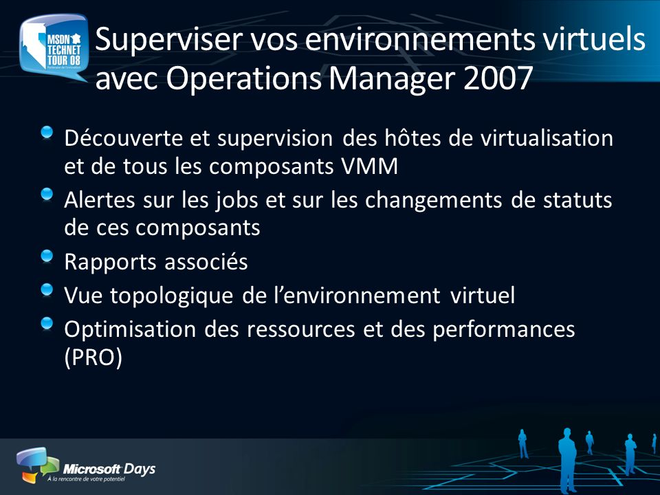 Superviser vos environnements virtuels avec Operations Manager 2007 Découverte et supervision des hôtes de virtualisation et de tous les composants VM