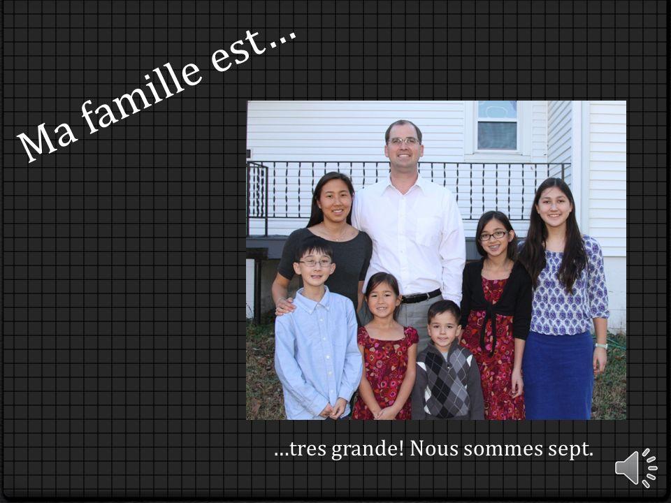 Ma famille est… …tres grande! Nous sommes sept.