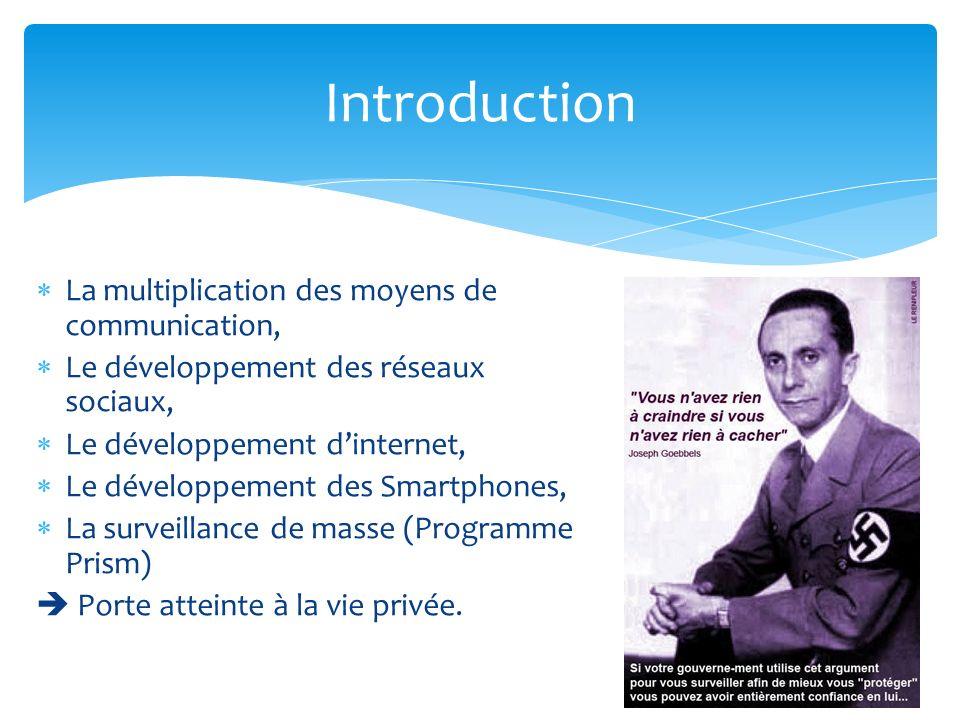 La multiplication des moyens de communication, Le développement des réseaux sociaux, Le développement dinternet, Le développement des Smartphones, La