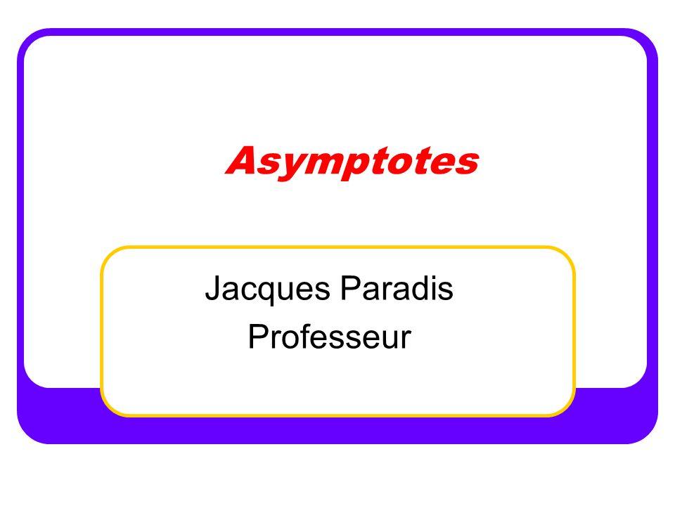 Département de mathématiques 2 Plan de la rencontre Élément de compétence Définition dasymptote Asymptotes verticales Asymptotes horizontales Levée d indéterminations Asymptotes obliques