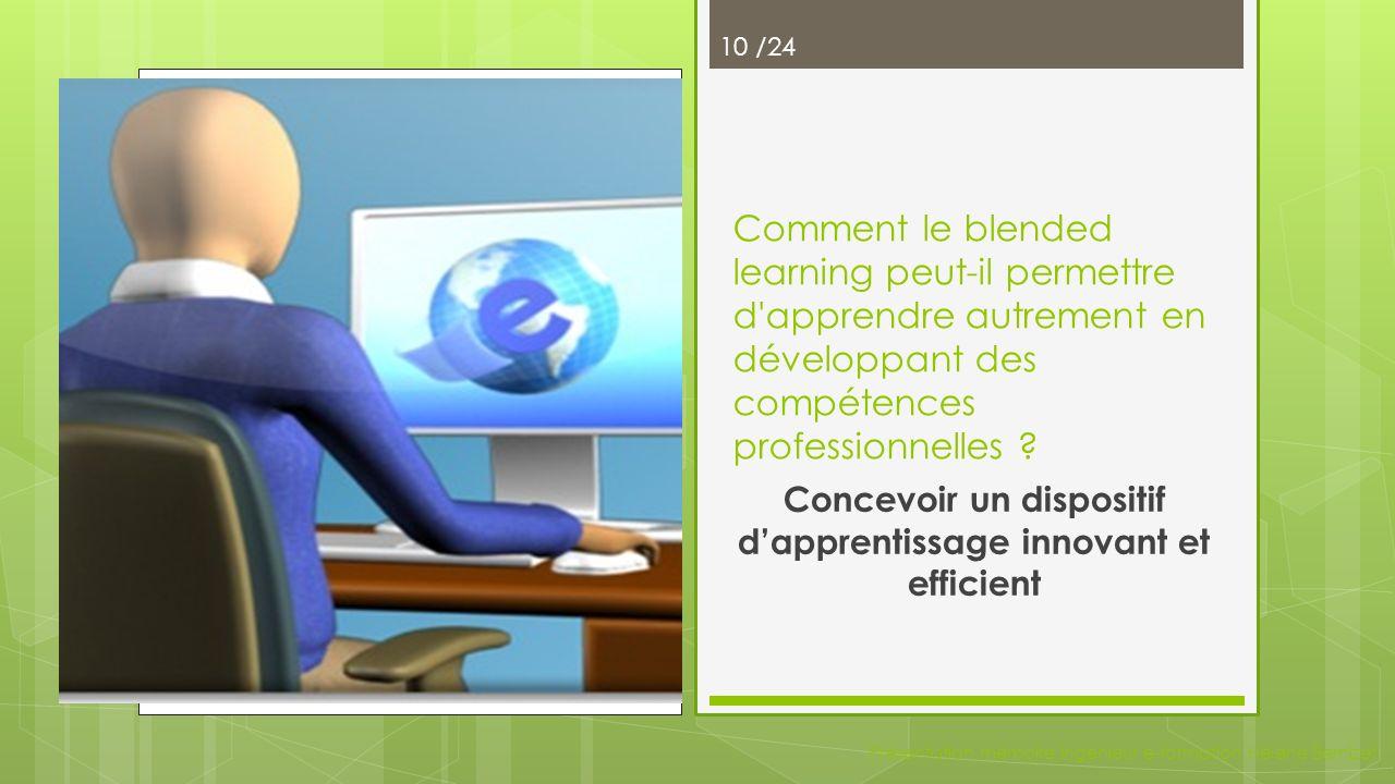 Le concept dapprenance Présentation mémoire ingénieur e-formation Hélène Bernizet 9/24 Adulte en démarche d apprenance Vouloir Apprendre 1.Pourquoi Apprendre .