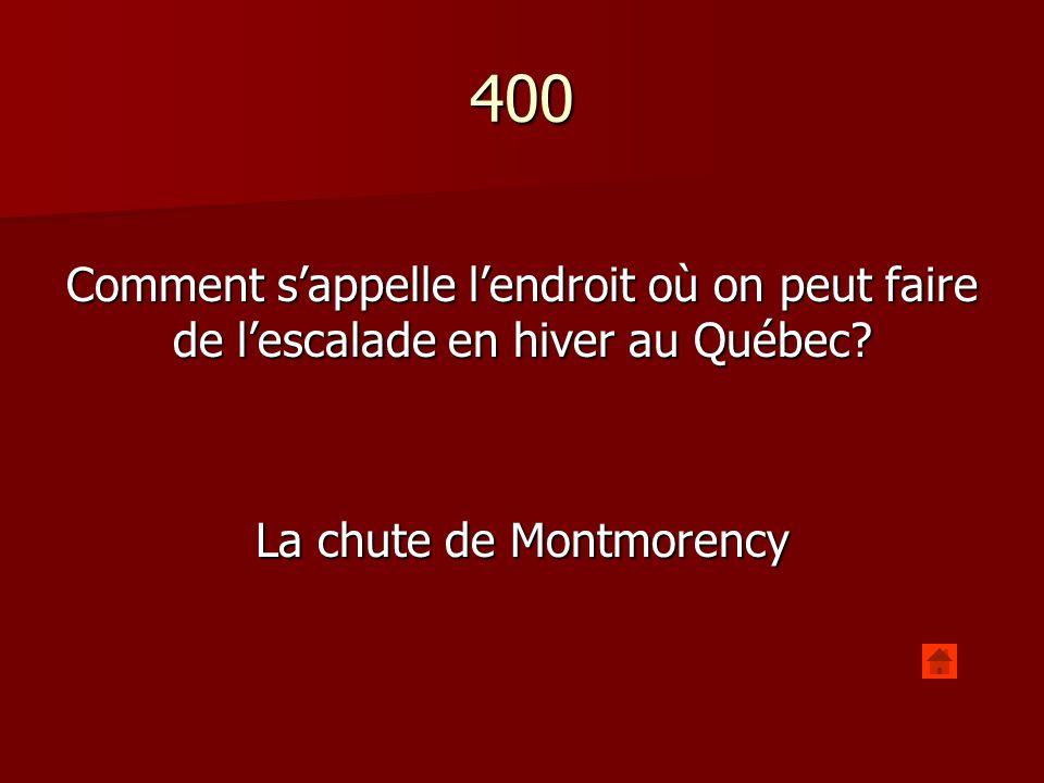 400 Comment sappelle lendroit qui relie le haute ville de la basse ville de Québec.