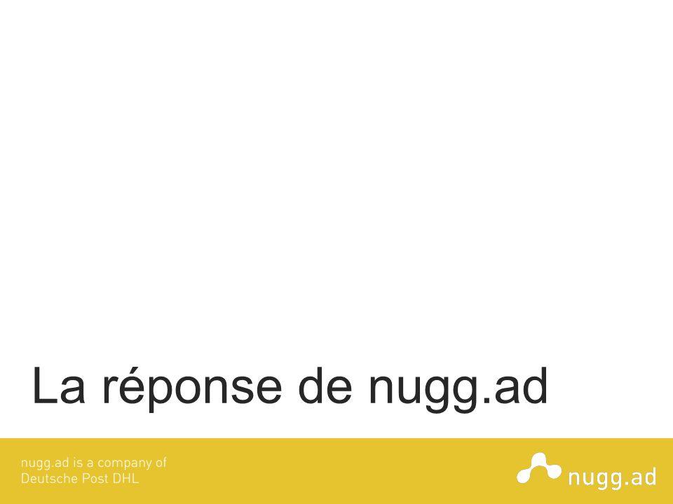 La réponse de nugg.ad