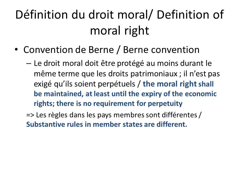 Comment résoudre un conflit entre lutilisation libre du domaine public et les situations dexclusivité persistantes telles que le droit moral.