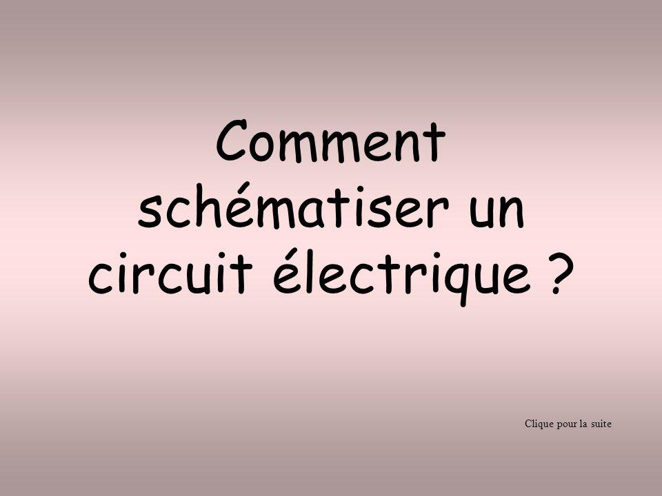 Comment schématiser un circuit électrique ? Clique pour la suite