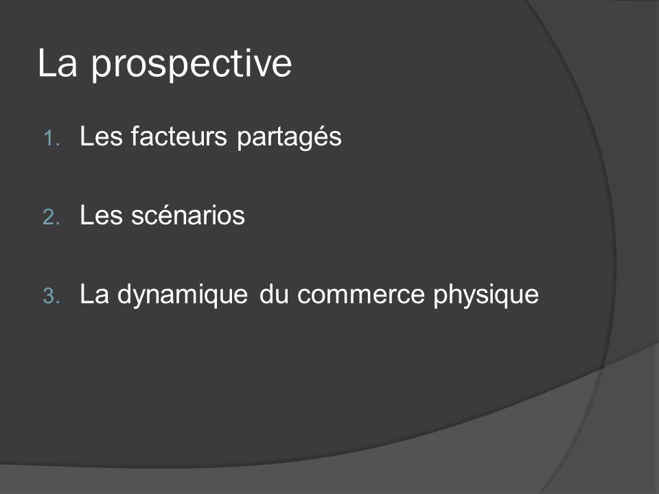 La prospective 1. Les facteurs partagés 2. Les scénarios 3. La dynamique du commerce physique