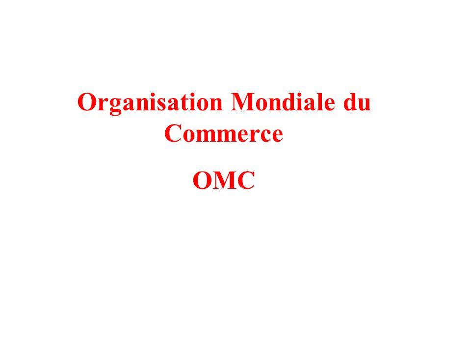 Organisation Mondiale du Commerce OMC