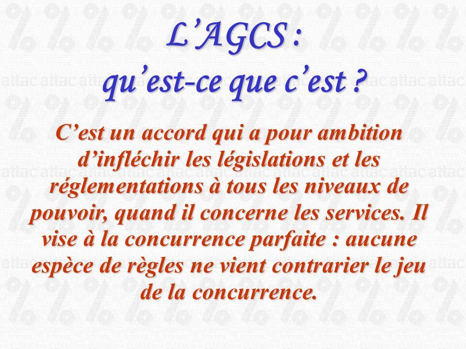 Accord Général sur le Commerce des services. A.G.C.S.