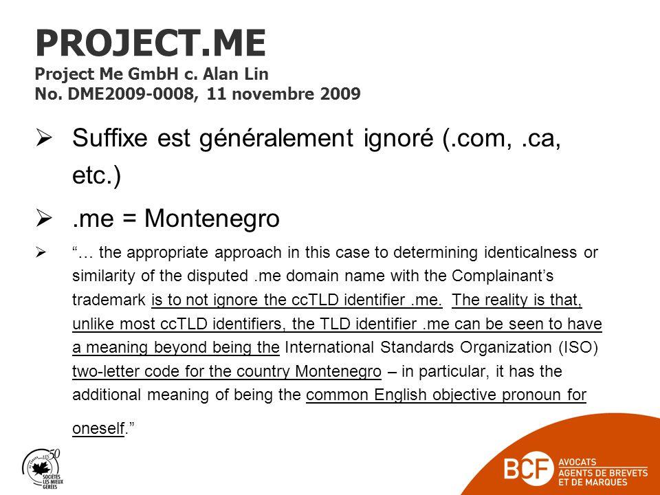 PROJECT.ME Project Me GmbH c.Alan Lin No.