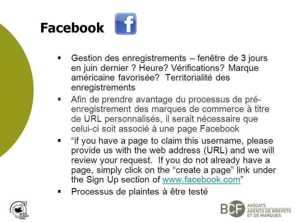 Facebook Gestion des enregistrements – fenêtre de 3 jours en juin dernier .