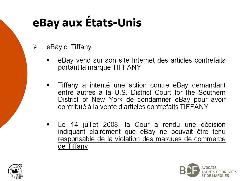eBay aux États-Unis eBay c.