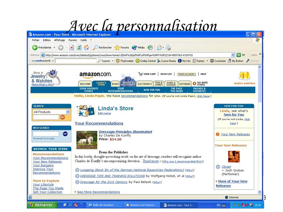 HEC Montréal26 Avec la personnalisation