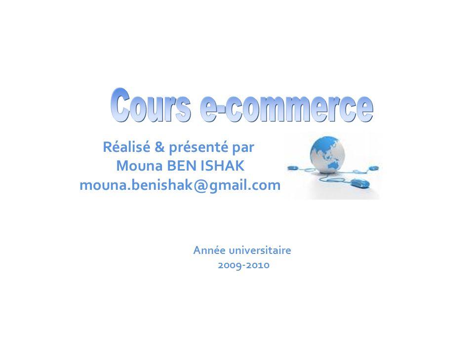 -commerce Mouna BEN ISHAK2/18 Objectifs Comprendre le concept de e-commerce.
