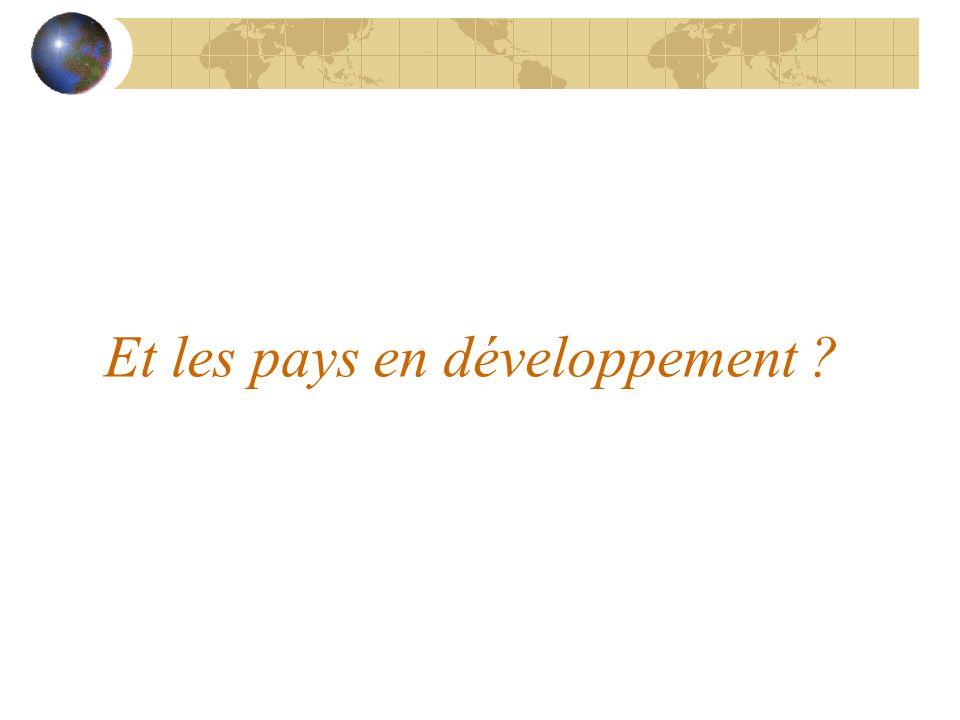 Et les pays en développement ?