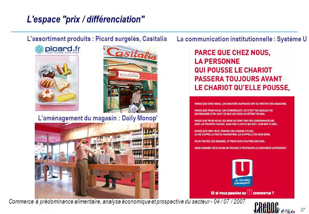 Commerce à prédominance alimentaire, analyse économique et prospective du secteur - 04 / 07 / 2007 27 Harrods L'espace