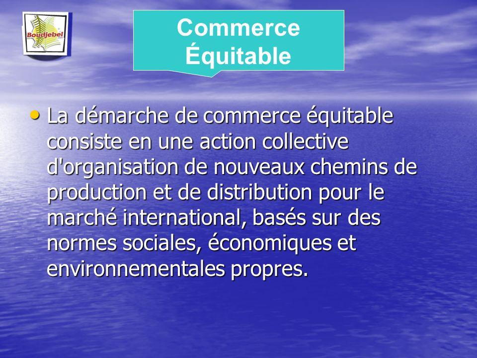 La démarche de commerce équitable consiste en une action collective d'organisation de nouveaux chemins de production et de distribution pour le marché
