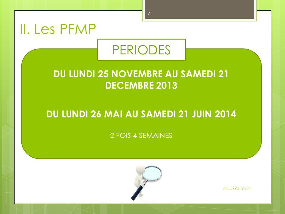 II.Les PFMP M.