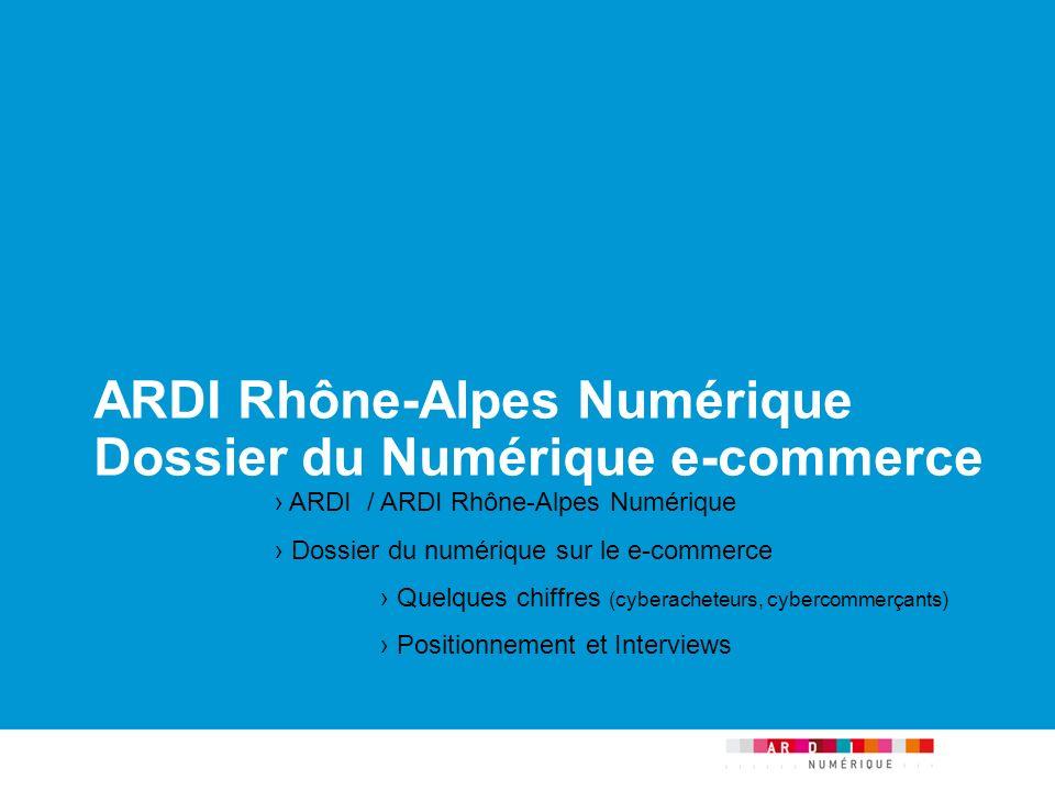 p.1   21/05/2014 ARDI Rhône-Alpes Numérique Dossier du Numérique e-commerce ARDI / ARDI Rhône-Alpes Numérique Dossier du numérique sur le e-commerce Q
