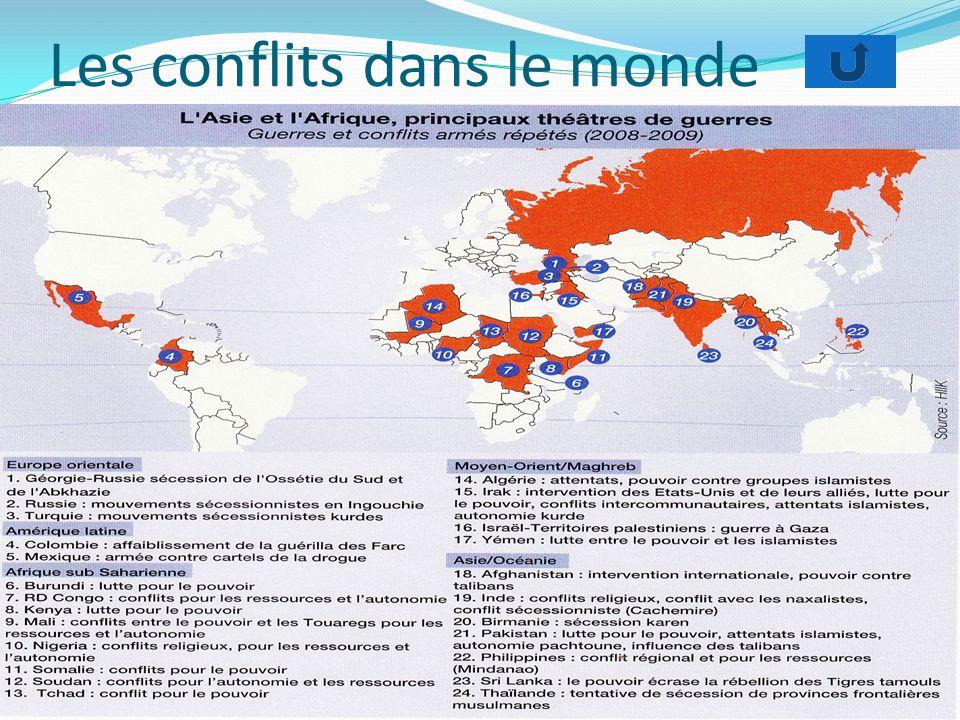 Les conflits dans le monde
