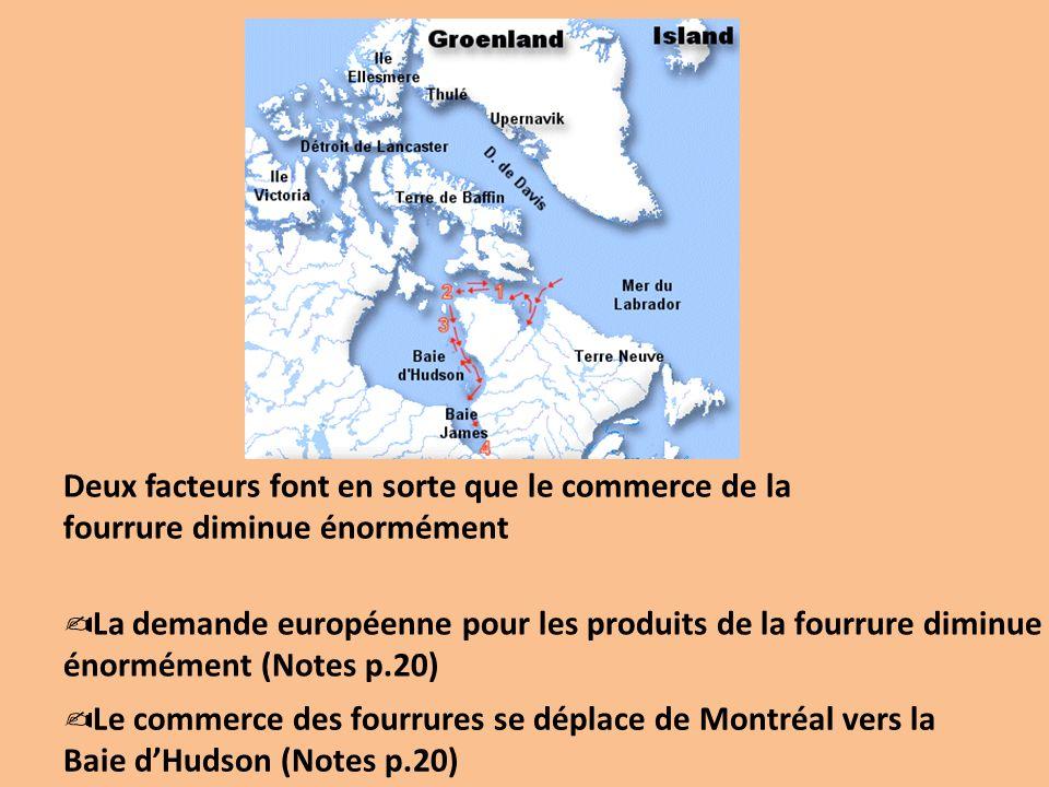 Deux facteurs font en sorte que le commerce de la fourrure diminue énormément La demande européenne pour les produits de la fourrure diminue énormémen