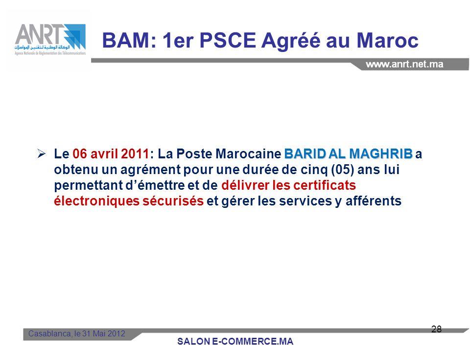 Casablanca, le 31 Mai 2012 Décret pris pour lapplication des articles 13, 14,15, 21 et 23 de la loi 53-05 Autorité gouvernementale chargée des Nouvell