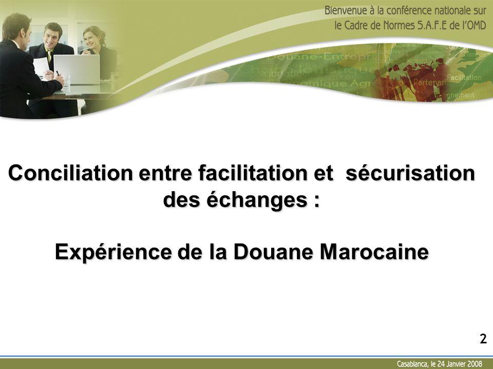 Conciliation entre facilitation et sécurisation des échanges : Expérience de la Douane Marocaine 2