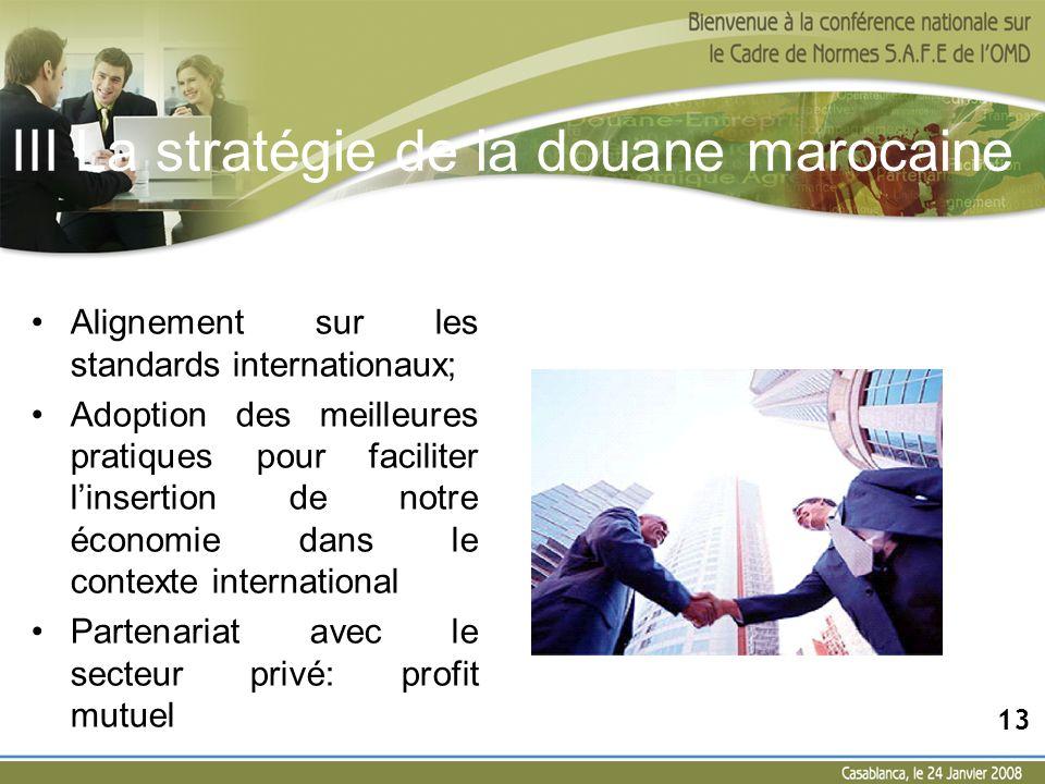 Alignement sur les standards internationaux; Adoption des meilleures pratiques pour faciliter linsertion de notre économie dans le contexte internatio