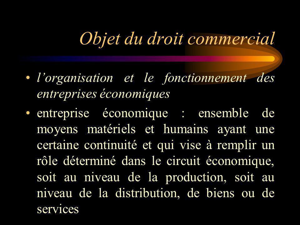 Les entreprises commerciales (art.