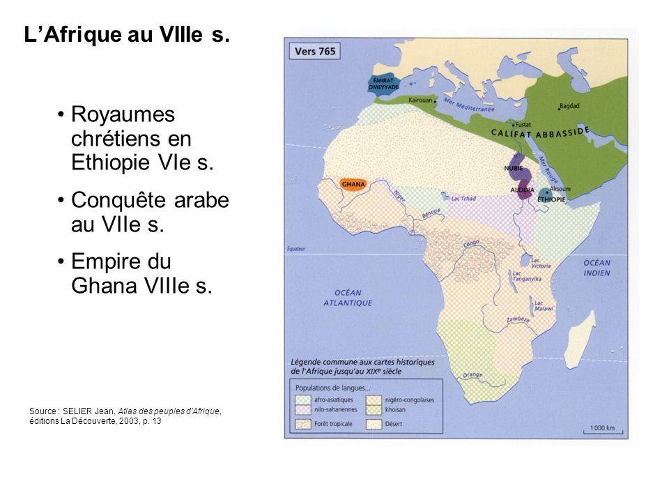 LAfrique et les indépendances de 1950 à 1990 Source : SELIER Jean, Atlas des peuples dAfrique, éditions La Découverte, 2003, p.