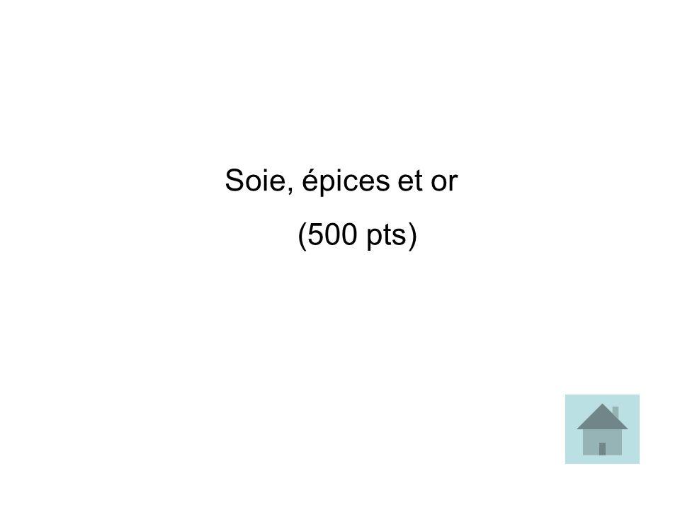 Soie, épices et or (500 pts)