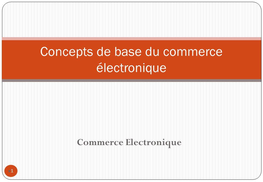 Commerce Electronique 1 Concepts de base du commerce électronique