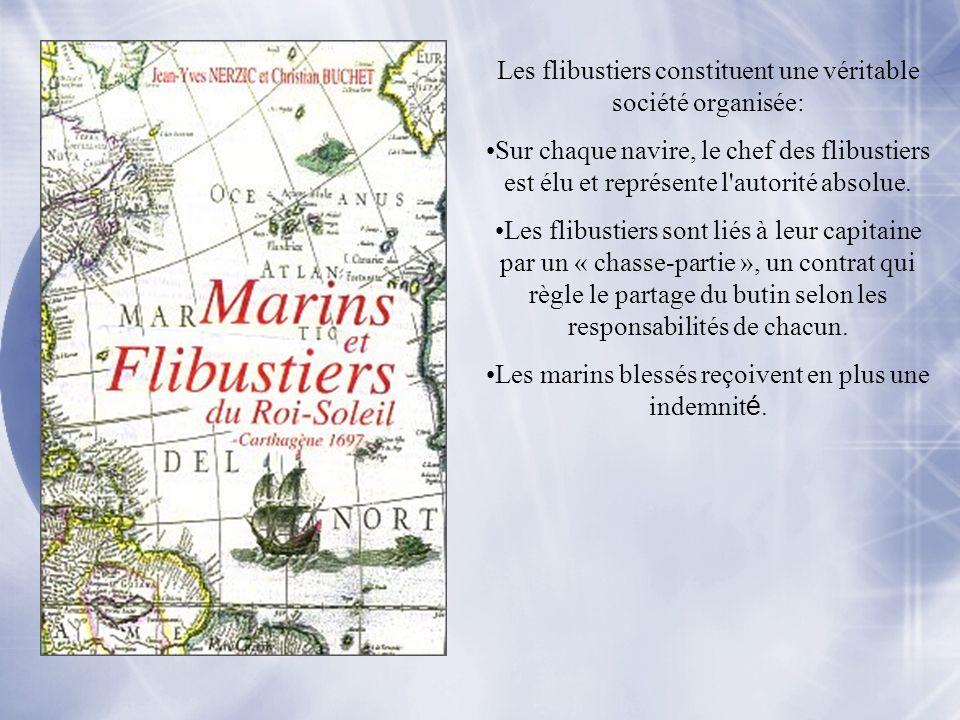 Les flibustiers constituent une véritable société organisée: Sur chaque navire, le chef des flibustiers est élu et représente l'autorité absolue. Les