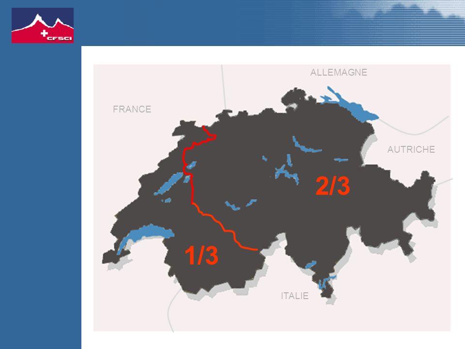 1/3 2/3 FRANCE ALLEMAGNE AUTRICHE ITALIE