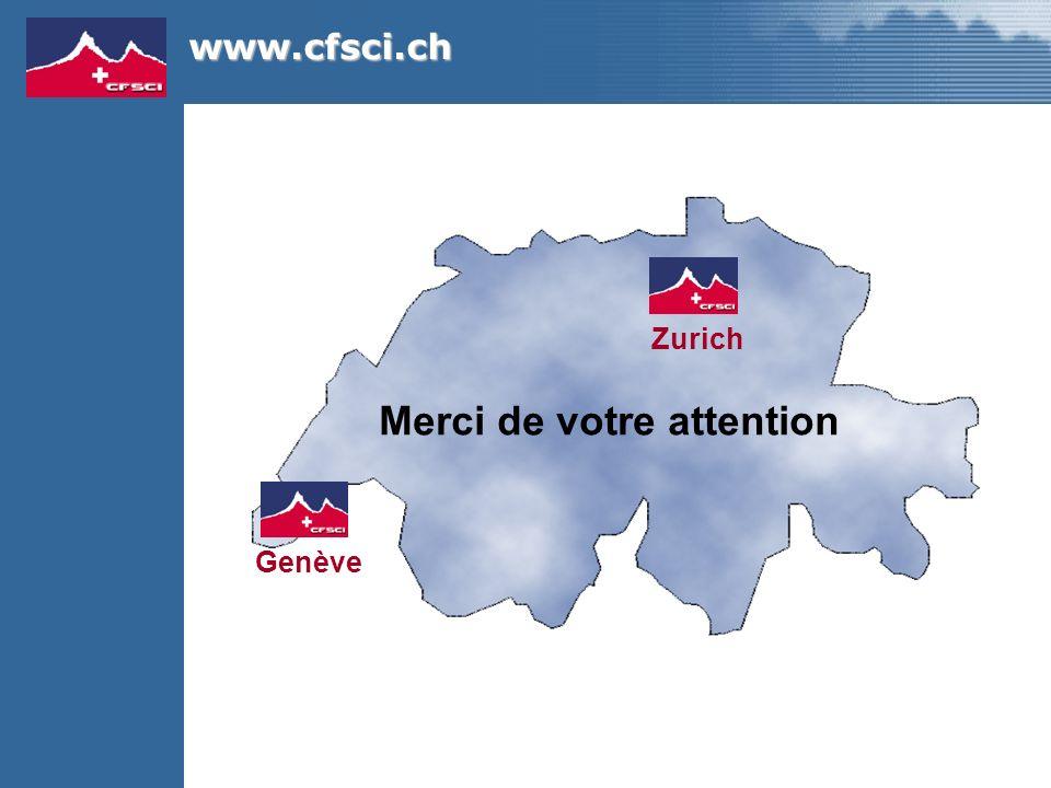 Merci de votre attention Genève Zurich www.cfsci.ch