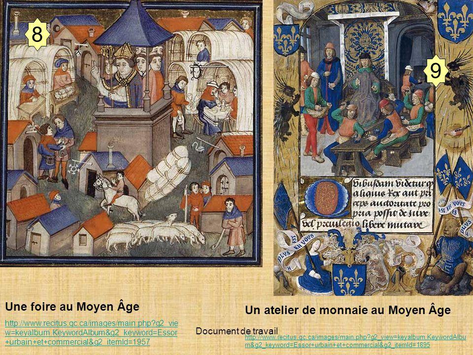 Document de travail 8 Une foire au Moyen Âge http://www.recitus.qc.ca/images/main.php?g2_vie w=keyalbum.KeywordAlbum&g2_keyword=Essor +urbain+et+comme