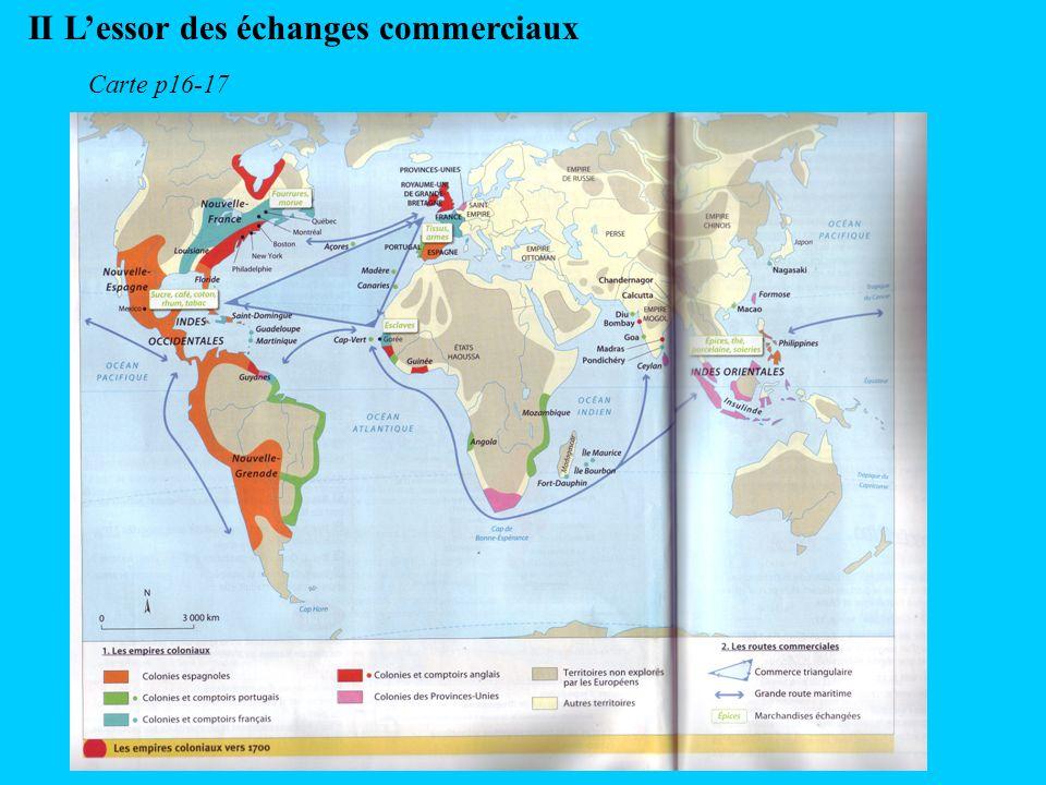 II Lessor des échanges commerciaux Carte p16-17